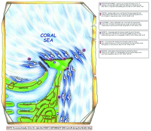 Mooloolaba - surf spots map