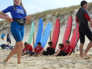 Cours de surf à la Cap Ferret Surf School